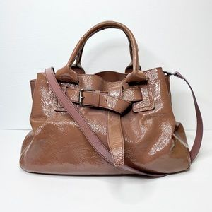Jil Sander Patent Leather 2-Way Tote Bag